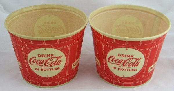 795: 2 Nos Waxed Coca-Cola Buckets