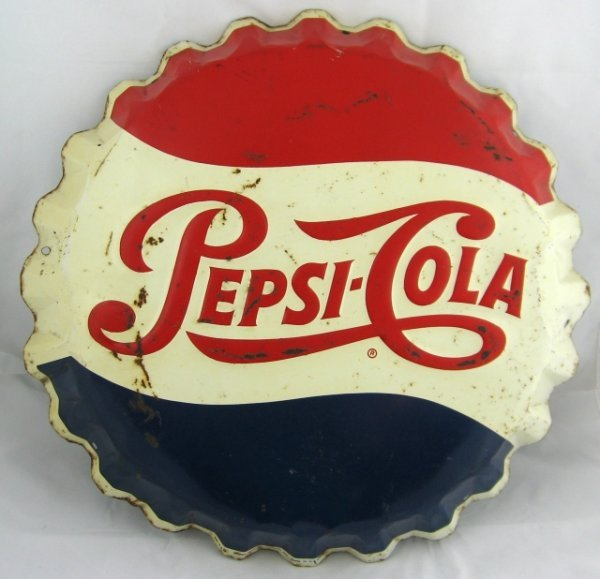 796: Pepsi-Cola Tin Advertising Sign