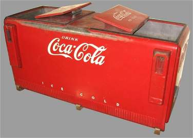 840: Double Lidded Coca-Cola Cooler
