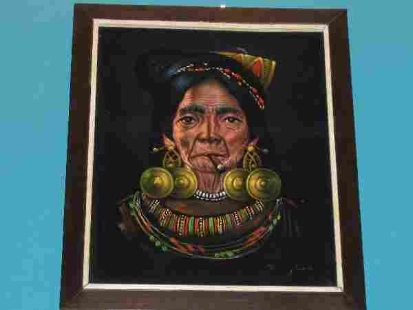 12: Native Woman with Cigar