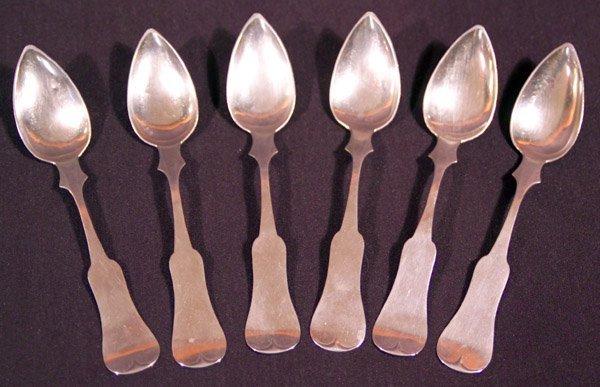 22: E & D Kinsey Coin Kentucky Silver Six Teaspoons