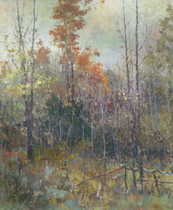 "31: Paul Sawyier OOC ""A Gray Day in the Woods"" SLR"