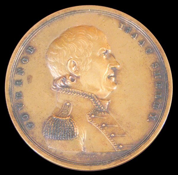 133: Bronze Medal, Kentucky Governor Isaac Shelby