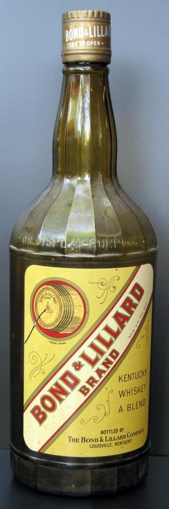 186: Bond & Lillard Whiskey Display Bottle, c.1950