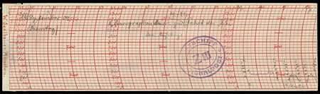"1: LZ 6 (Z III): 1909, violetter ""Signalpost""-Ovalstemp"