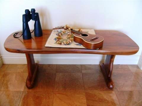 110: Koa Wood Coffee Table