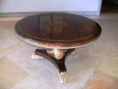 500: Antique Regency Style Mahogany Pedestal Table