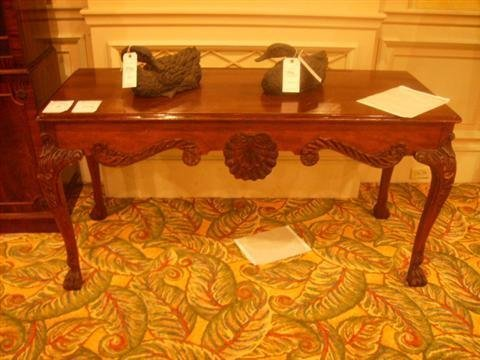 505: Carved Sofa Table