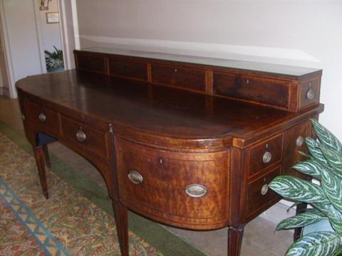 511: Antique George III Mahogany Sideboard