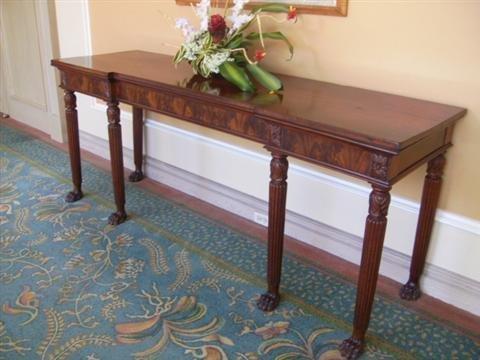 523: Antique Regency Mahogany console table