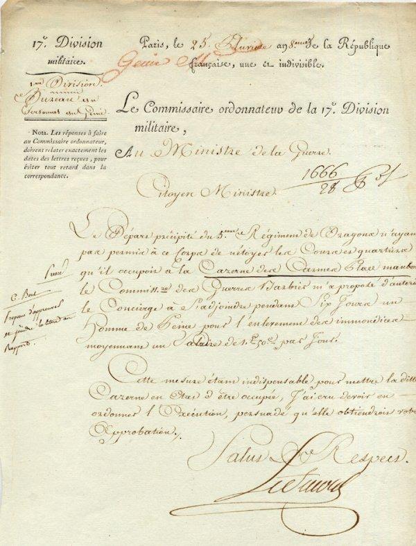 15: CONSULAT-EMPIRE - GENERAUX-LESOURD (PS an 8 - au su