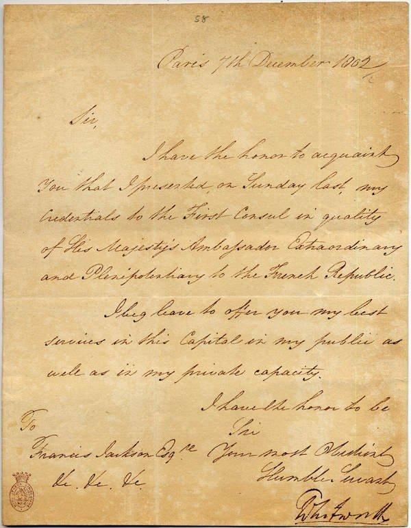 24: Lord Charles WITHWORTH [1754-1825] Ennemi juré de N