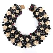 Coppola E Toppo woven collar bib necklace with faux