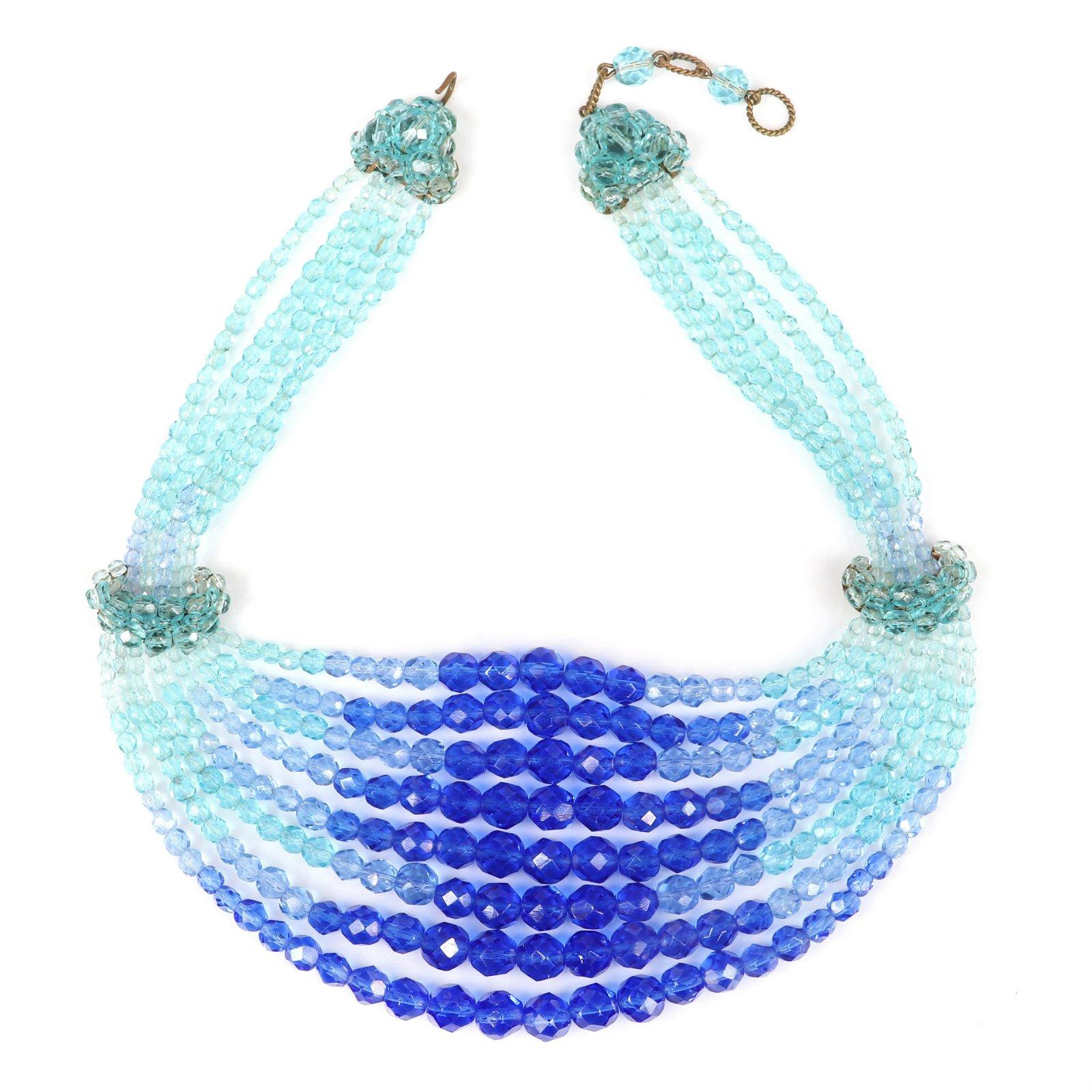 Coppola E Toppo multi strand collar bib necklace with