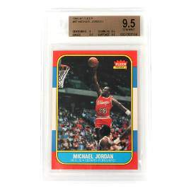 Michael Jordan 1986-87 Fleer Rookie Card #57 BGS 9.5