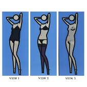 Julian Opie, (British, b.1958), Sara Gets Undressed 2,