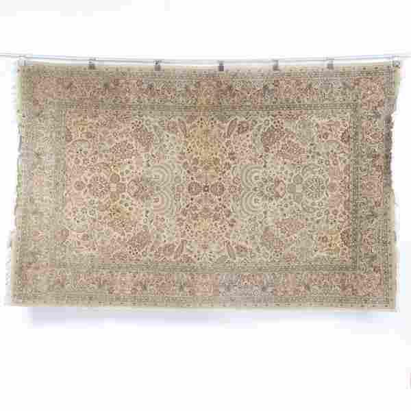 Handwoven modern Pak-Persian wool carpet rug with tree