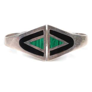 Taxco Mexican Modernist Sterling Silver clamper