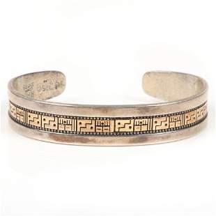 Roderick Tenorio Kewa silver / 14k gold cuff bracelet