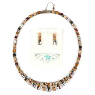 Calvin Begay Native American Indian sterling silver and