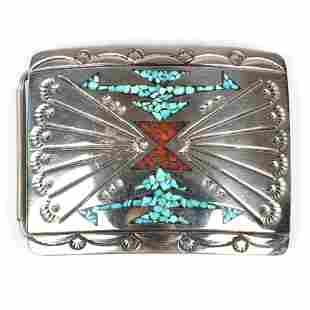 J. Nezzie Navajo Native American sterling silver belt