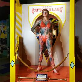 Krystyne Kolorful Tattooed Lady Museum Circus Sideshow