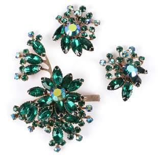 Beau Jewels? Schreiner? layered emerald crystal
