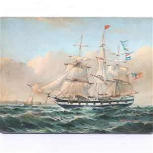Robert Sanders, American (20th Century), clipper ship