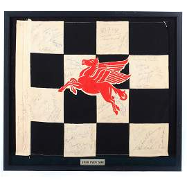 One of a kind Checkered Flag signed by 49, 31 drivers