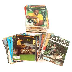 Lot of 76 Vintage Sports Illustrated Issues 1950's-70's
