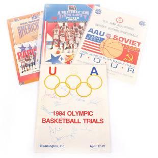 1984 USA Olympic Basketball Trials Multi Signed Program