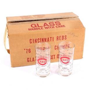 Set of 8 Vintage 1976 Cincinnati Reds World Series