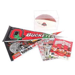 Lot of Ohio State University Autographed Memorabilia