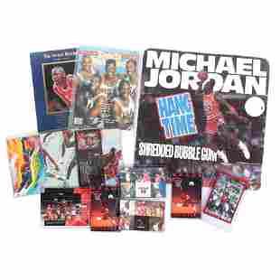 Michael Jordan Hang Time Bubble Gum Store Display,