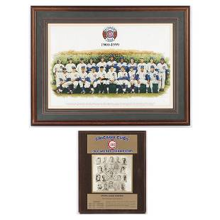 Framed Chicago Cubs 1900-1999 All Century Team Litho &