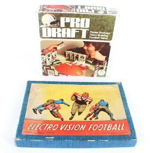 2 Vintage Football Board Games Pro Draft & Electro