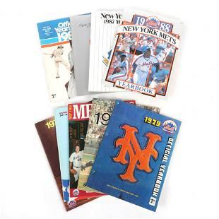 9 New York Mets Yearbooks