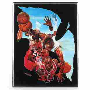 Michael Jordan Framed Lithograph Framed the piece