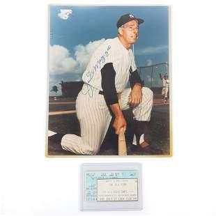 Joe DiMaggio Autographed 8x10 Photo