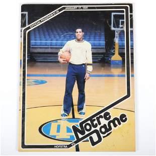 1981 Hofstra vs Notre Dame Basketball Program, Signed