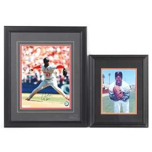 Juan Marichal & Lee Smith Autographed & Framed Photos,