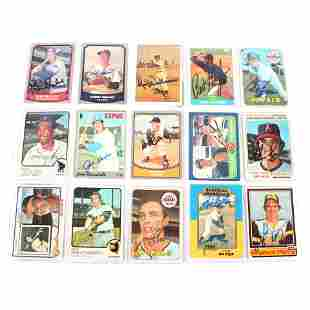 15 Autographed Baseball Trading Cards, Nolan Ryan