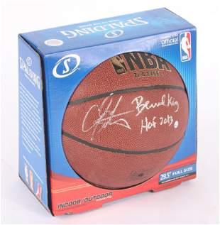 Carmelo Anthony / Bernard King Autographed Basketball,