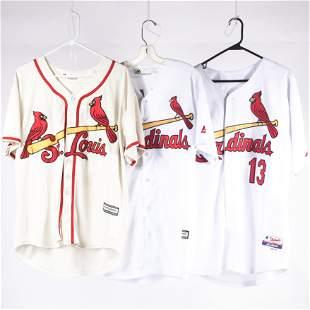 3 St. Louis Cardinals Authentic Baseball Jerseys,