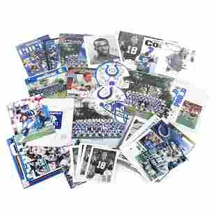 Large Lot of Indianapolis Colts Items, Several