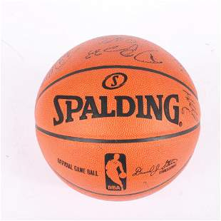 2008-09 Indiana Pacers Team Signed Basketball