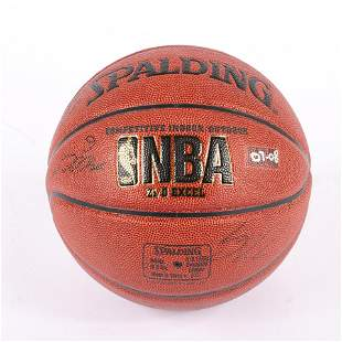2007-08 Indiana Pacers Team Signed Basketball