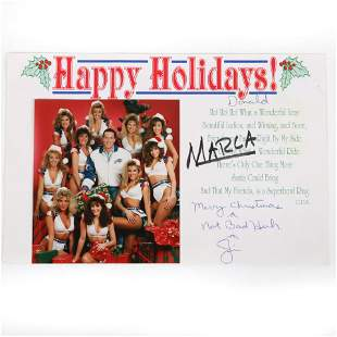 Jim Kelly Autographed Christmas Card to Donald Trump,