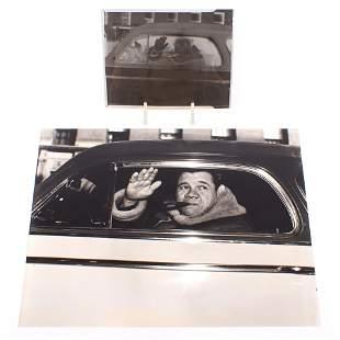 Babe Ruth Photo with Original Negative
