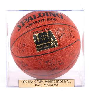 1996 USA Olympic Gold Medalist Team Signed Basketball